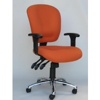 Balanz Managerial 3 Lever Gas Lift Office Desk Chair Orange