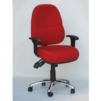 BC Lumbar Soft Medium Back with Arms Ergonomic Gas Lift Office Desk Chair Red