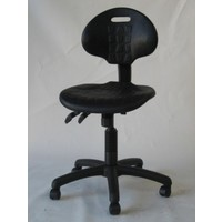 PU Typist Black Chair 2 Way Gas Lift Office Desk Chairs