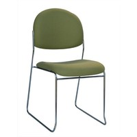 Rod Visitors Medium Back Chrome Frame Stackable Chair Office Boardroom Chairs Olive