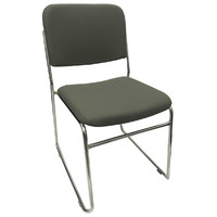 Evo Rod Visitors Office Chair Chrome Grey