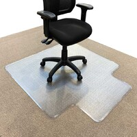 RapidLine Keyhole Office Chair Mat Carpet Floor Protector