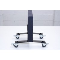 Freestanding Partition Mobile Feet Office Dividers Set of 2 Heavy Duty Rubber Caster with Brake Black