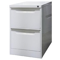 Coform 2 Drawer Storage Office Steel Filing Cabinet Aussie Made Life Time WARRANTY Silver Grey