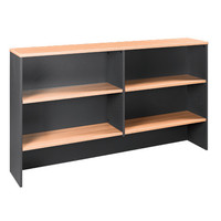 Swan Overhead Hutch Desk Top 1080mm H x 1350mm W Beech Shale