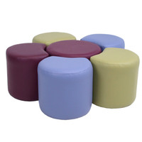 Ottoman Educational Library Classroom Furniture Modular PODZ Small Flower 6 Piece 980 x 300 H