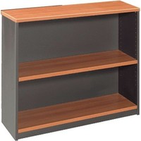 Swan Book Case 900m x 900mm Bookcase Beech/Shale