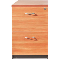 Swan 2 Drawer Filing Cabinet Lockable Shale / Beech