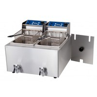 Hot Food Fryer Double 8L With Tap Heating & Cooking 2x15amp Birko 1001004
