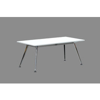 Metal Black Frame Computer Table Conference Office Desk Silver Grey Top 1800 W x 900 D