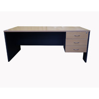 Swan Open Desk with key lock 3 Drawer 1350mm x 750mm