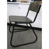 Shop Soiled VEF Sled Base Black Metal School Chairs