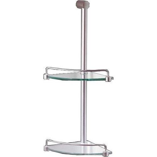 marbletrend flinders 2 tier metal corner glass shower shelf. Black Bedroom Furniture Sets. Home Design Ideas