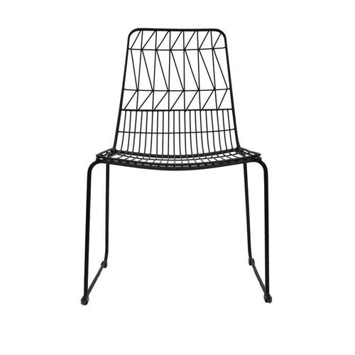 Net Outdoor Chair Replica Bend Wire Lucy Dining Chairs Stackable Matt Black