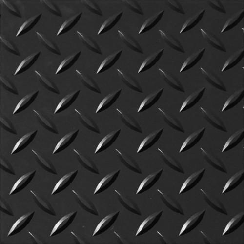 Garage Checker Plate Vinyl Flooring 200cm Wide Black