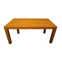 chunky leg 3 piece outdoor timber dining table and bench setting