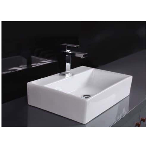 ECT Global Above Counter Basin Bathroom Ceramic Vanity White Acqua WB 5136