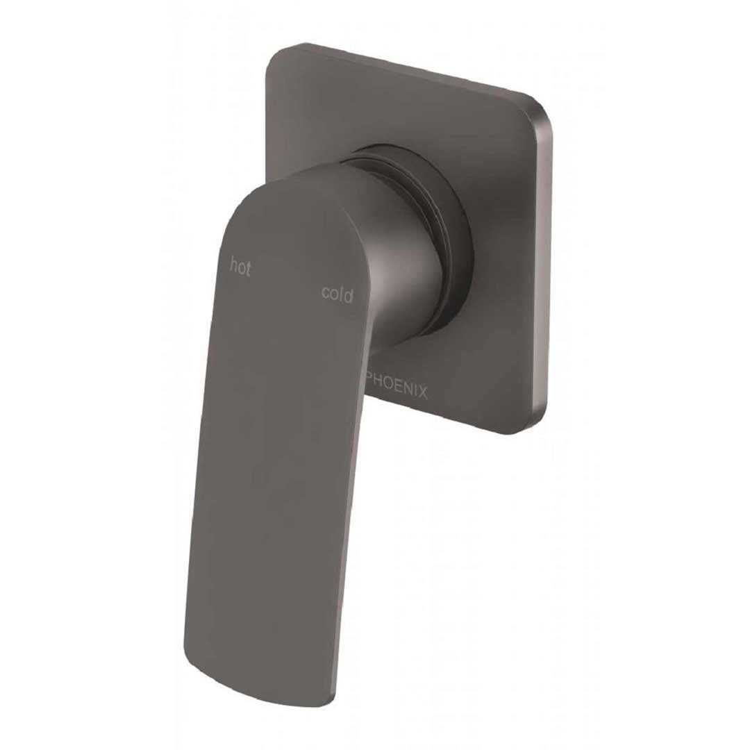 Phoenix Tapware Shower Wall Mixer Tap Gun Metal Mekko 115-7800-30