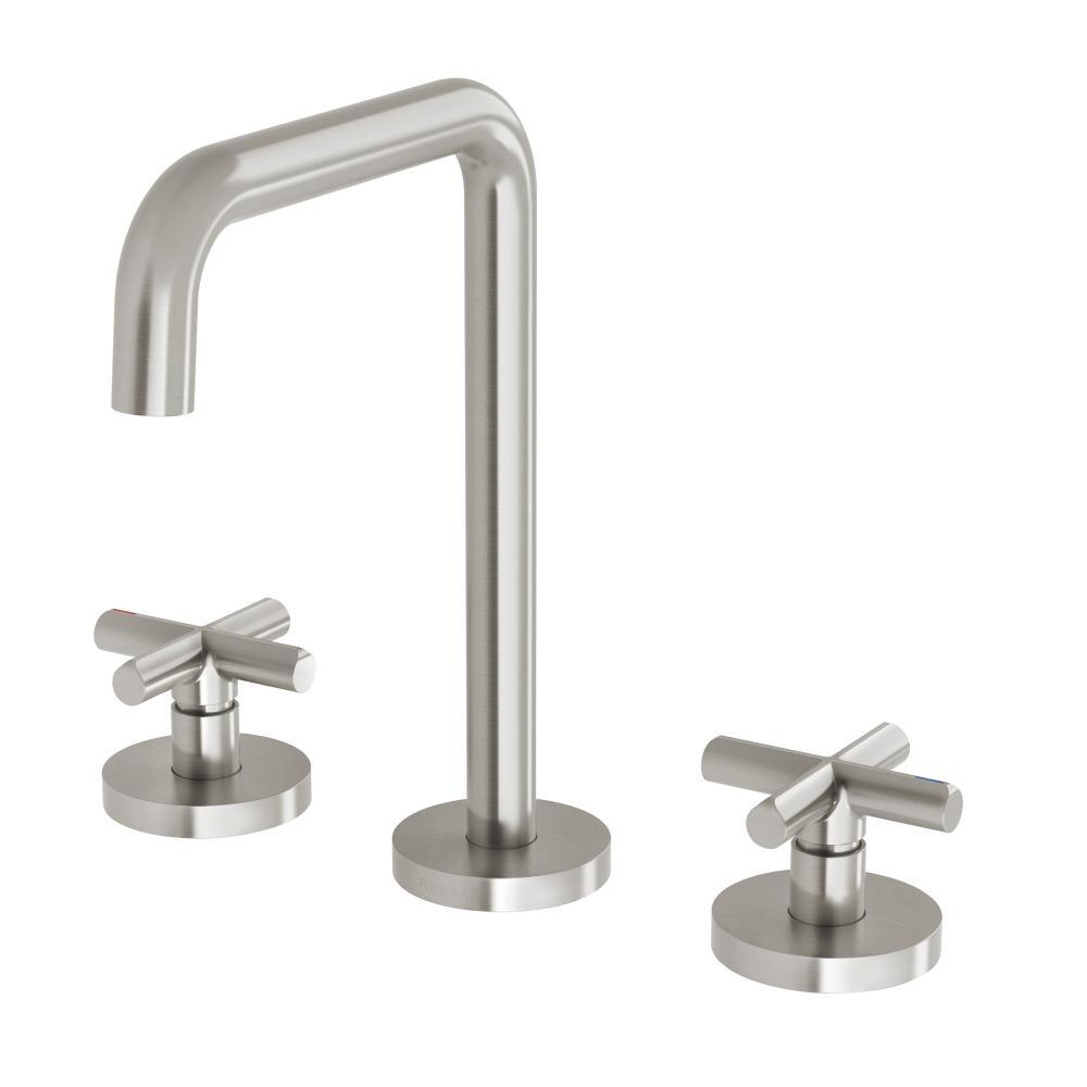 Phoenix Tapware Bathroom Basin Set Brushed Nickel Vivid Slimline Plus 119-1000-40