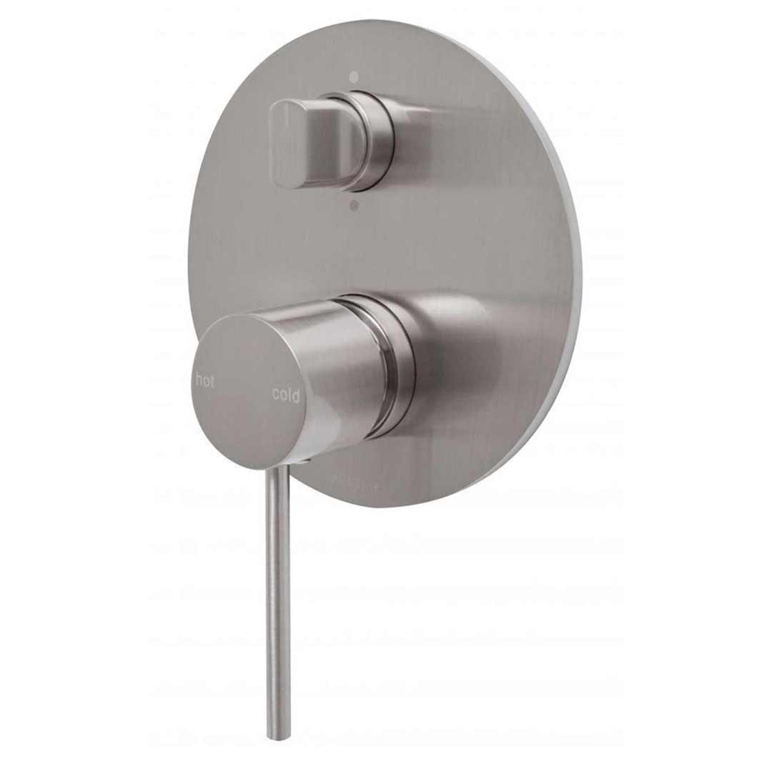 Phoenix VS791 BN Slim Wall Shower Mixer w Diverter Brushed Nickel