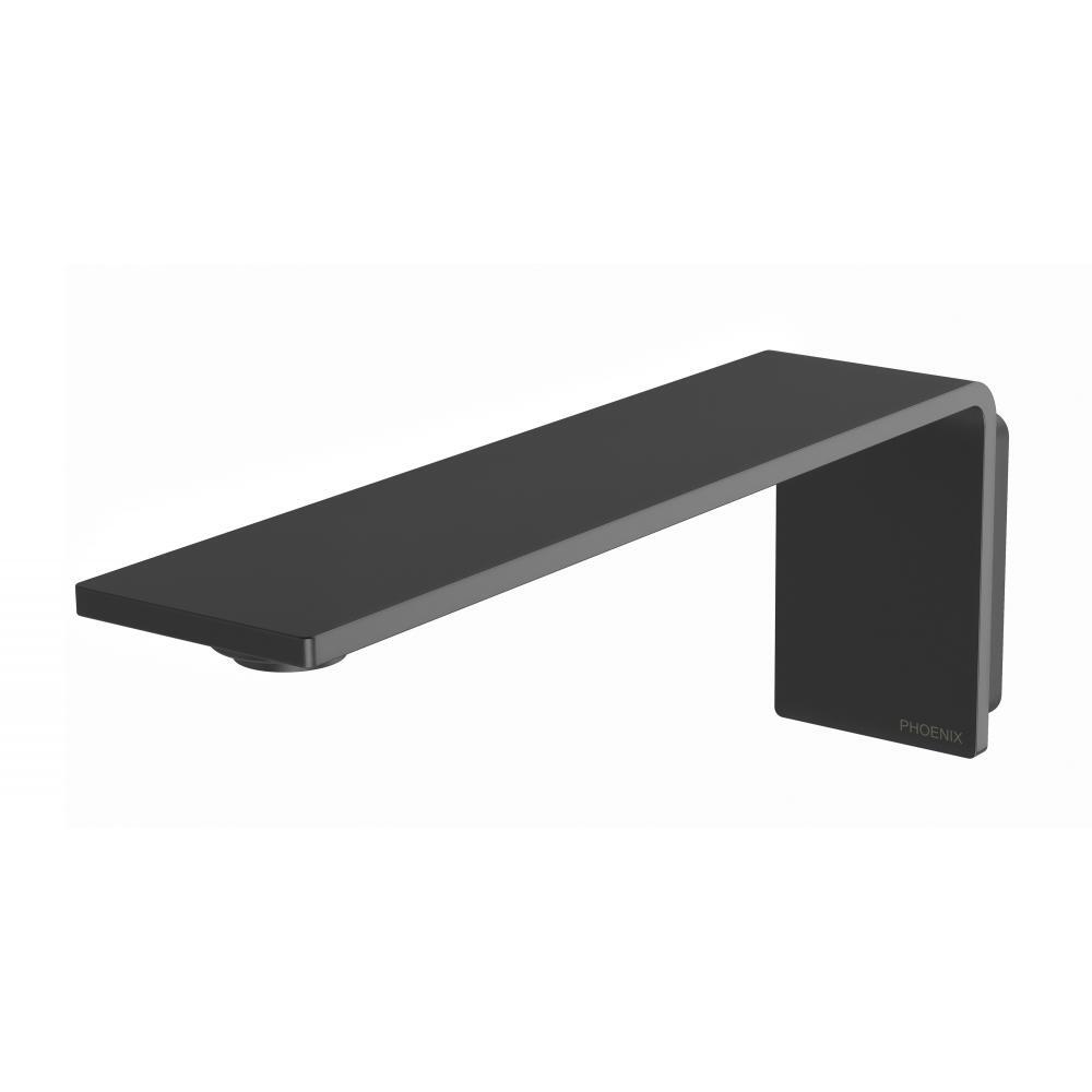 Phoenix Tapware Bathroom Wall Basin Outlet 200mm Spout Matte Black Axia 117-7610-00