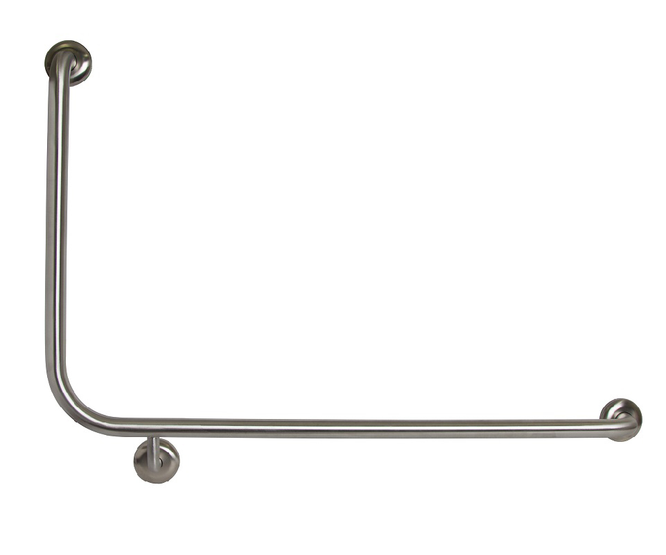 Metlam Grab Rail Flush Mount Side Wall RH 950mm x 600mm Bathroom Special Need Safety Ambulant MLR104_X