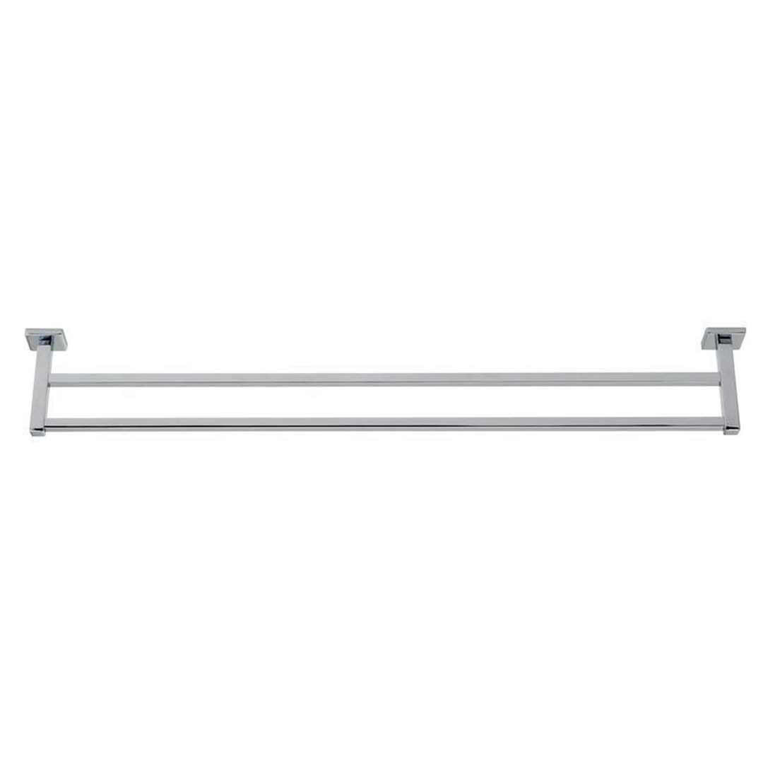 Virtu Double Towel Rail 600mm Chrome Cubit 8803C-6