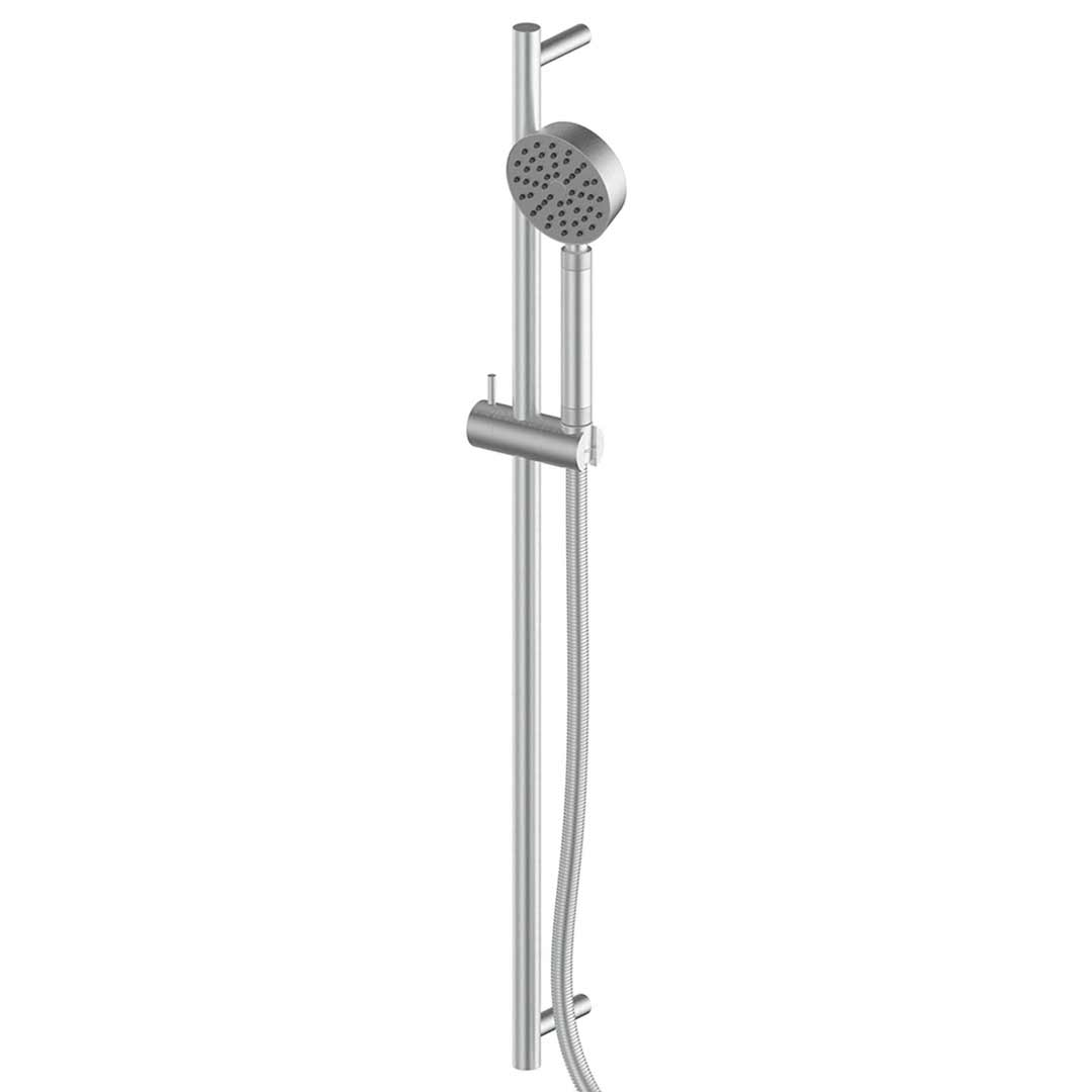Greens Tapware Rail Shower Brushed Stainless Textura 1830003
