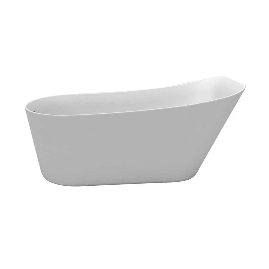 Castano Corsica 1600 Slimline Bath with waste & overflow White COR1600FB-OF