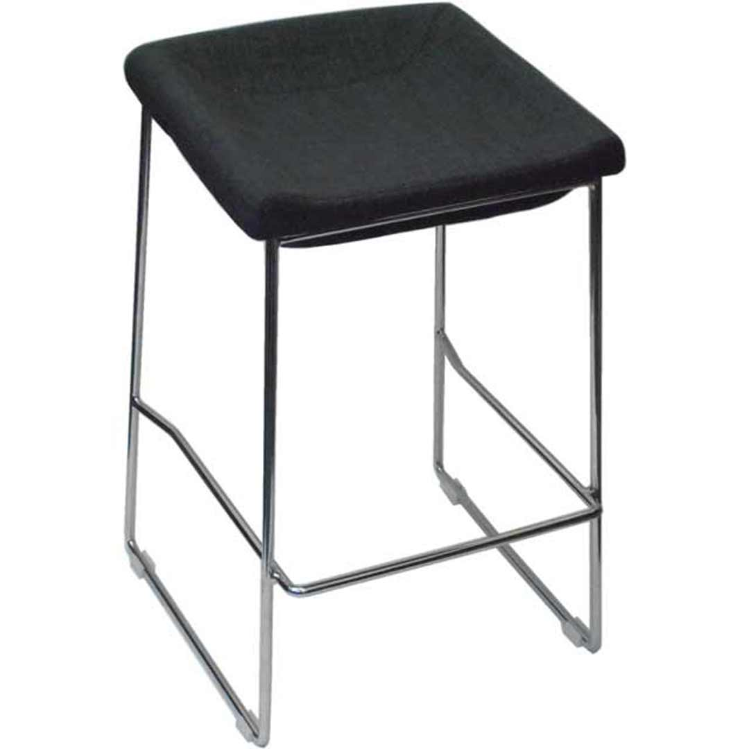 PIPPA BAR STOOL Chrome frame Linen seat Kitchen Seat Height 650mm Grey