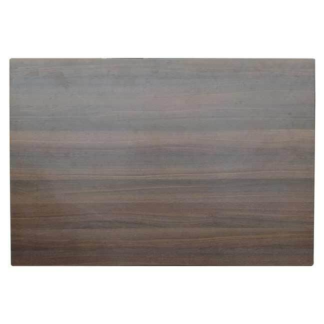 Outdoor Table Top Rectangle Heat Pressed Melamine 1200mm x 800mm Flat Edge Choco Oak