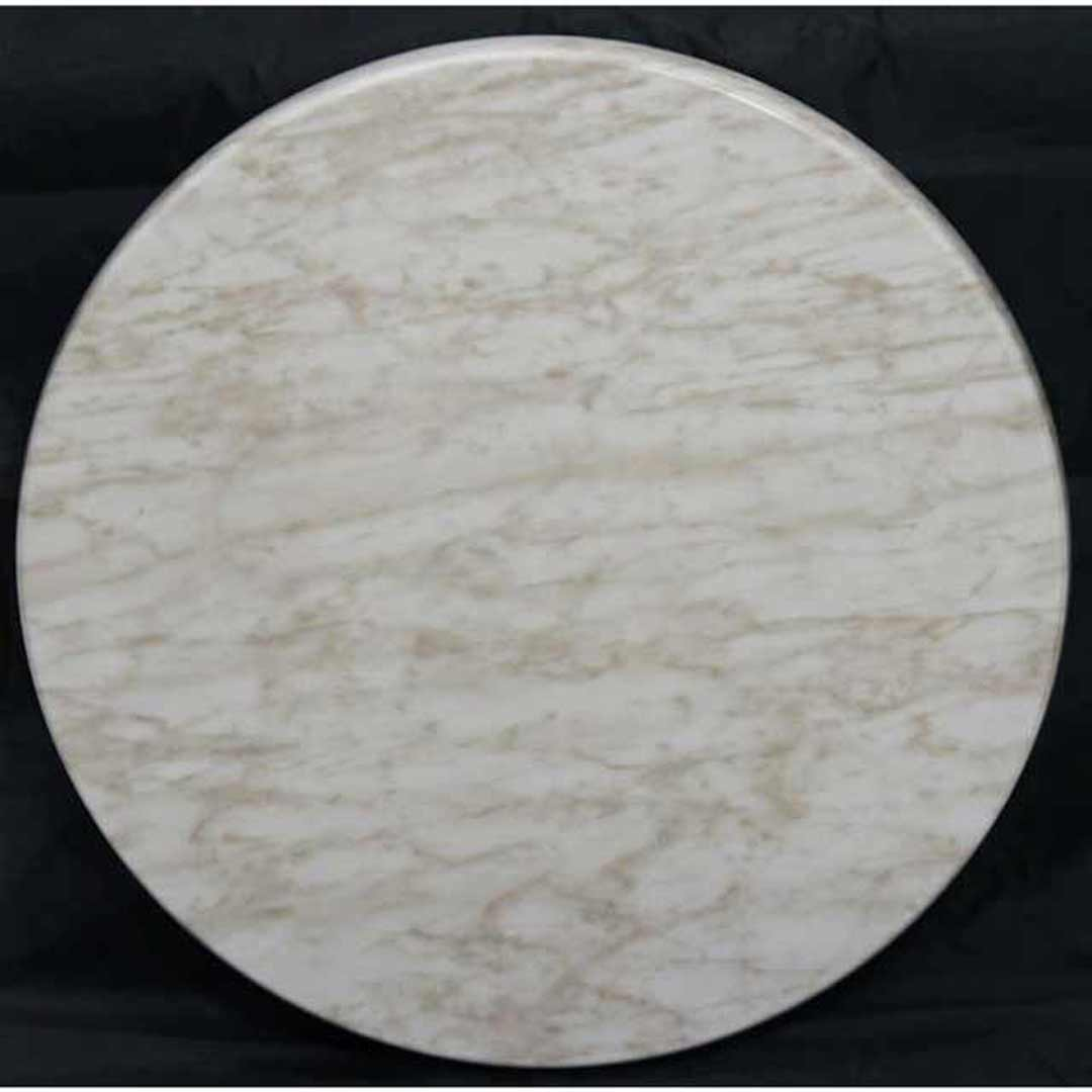 Isotop Outdoor Table Top Round 600mm MarbleLight
