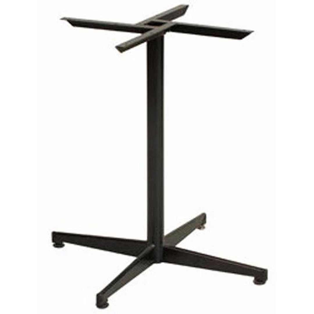 Black Pedestal Powder Coated Table Base Regular Table Legs 70cm