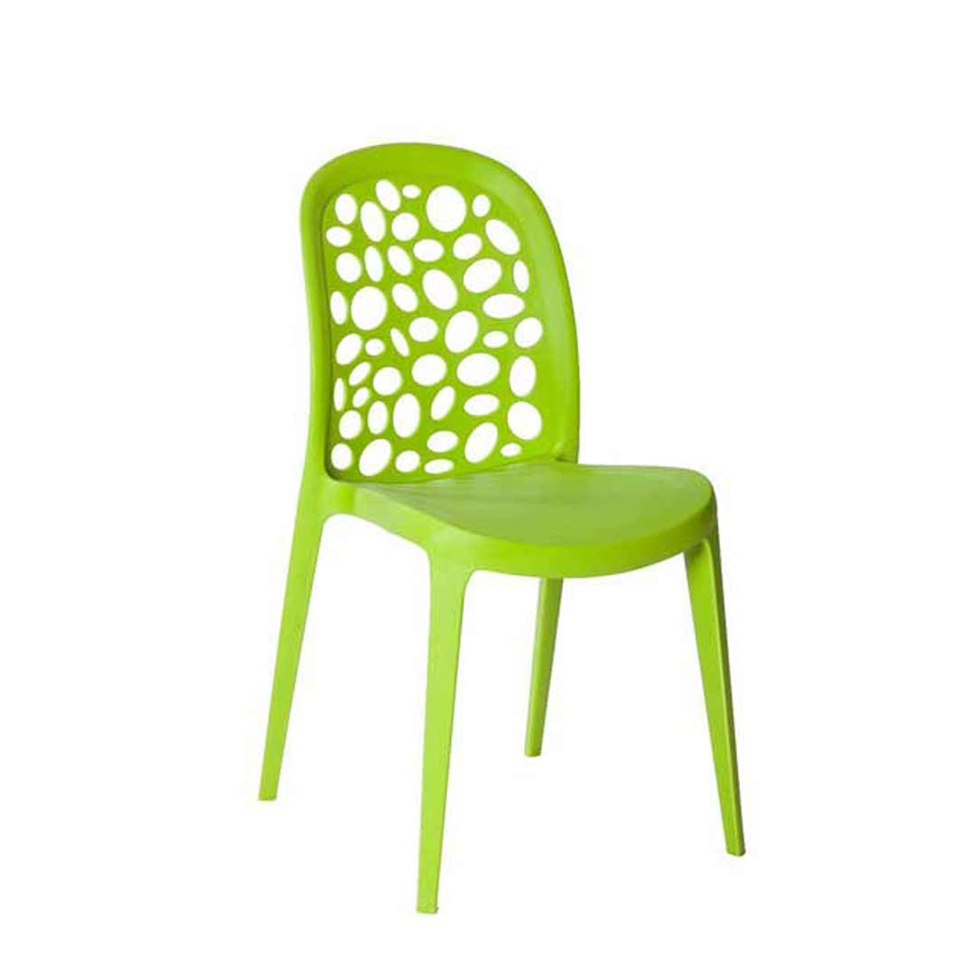 Grace Cafe Chair Outdoor Stackable Dining Green