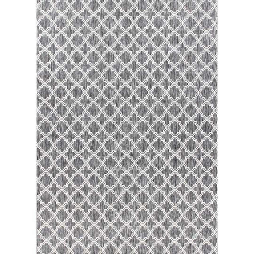 Seaspray Hallway Runner Rubber Backed Hall Way Carpet Moroccan Shaded Grey 66cm wide