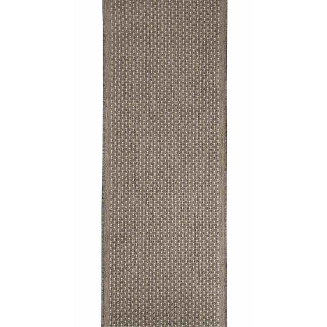 Seaspray Pindot Brown with Silver Dots Hall Runner Rubber Backed Hallway Carpet 67cm wide