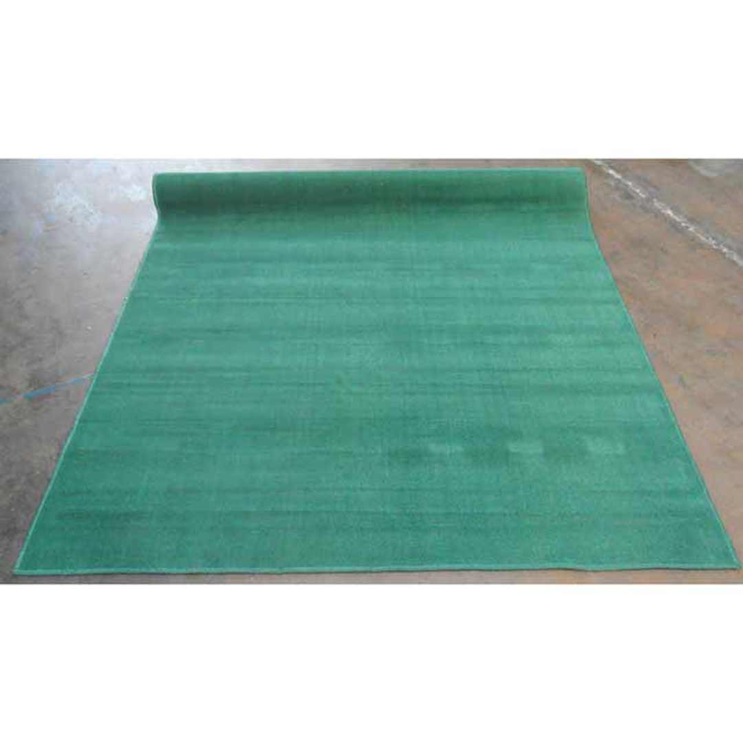 Synthetic Overlocked Rug Poly 180cm x 245cm Green