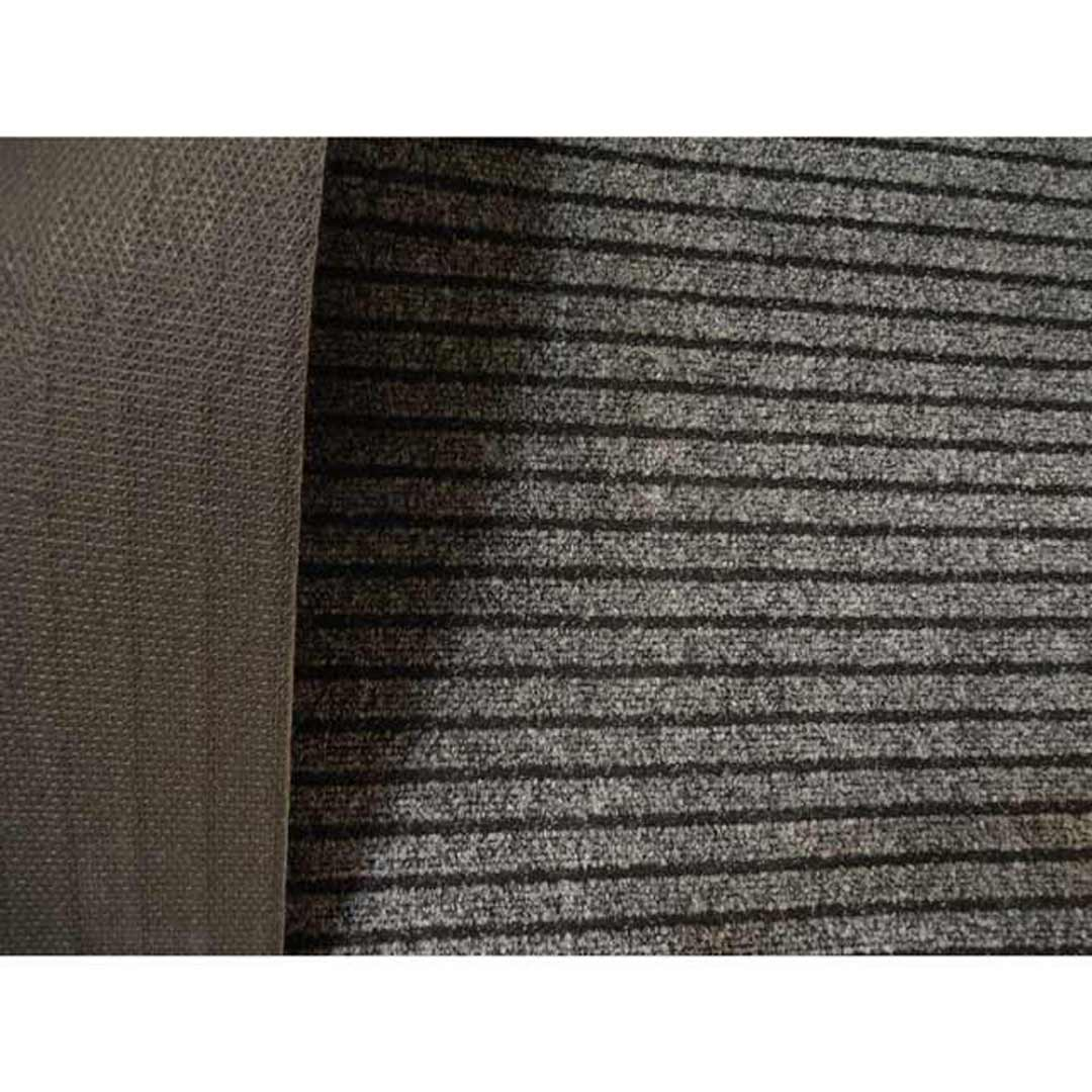 DALLAS Runner Ribbed Grey 67cm Wide by the metre