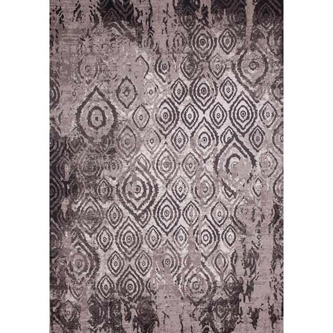 Lucia Rug Transitional Embossed Polypropylene Floor Rugs 160cm x 230cm Grey 9368
