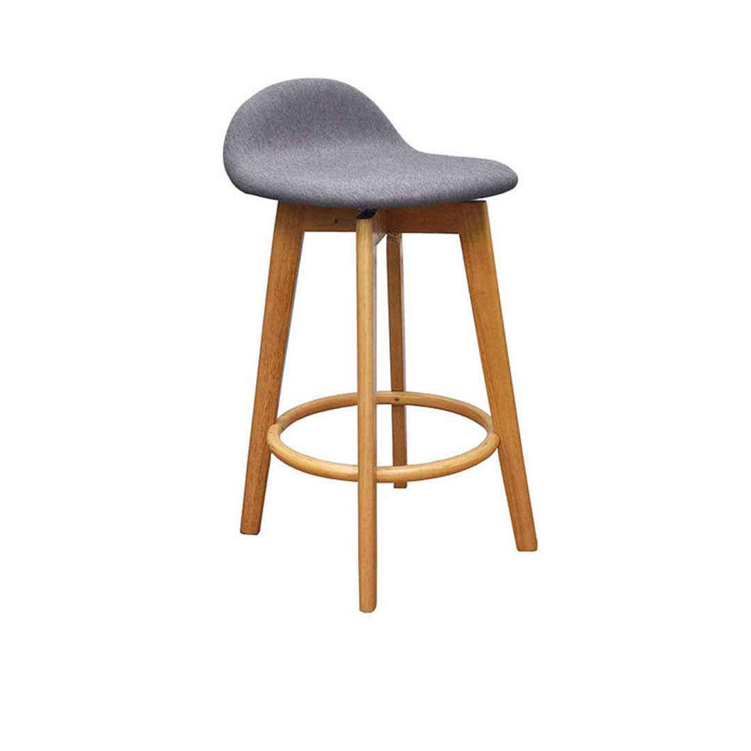 Diamond Creek Bar Stool Natural Timber Frame with Padded Truffle Fabric Seat Caulfield