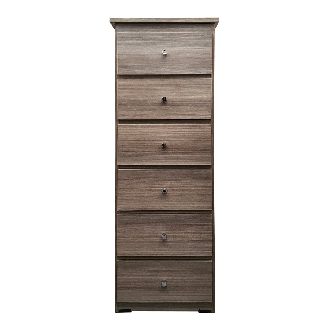 Chest of Drawers 420mm Wide Clothes Storage Cabinet 6 Drawer Ceramic Wood BC 2B