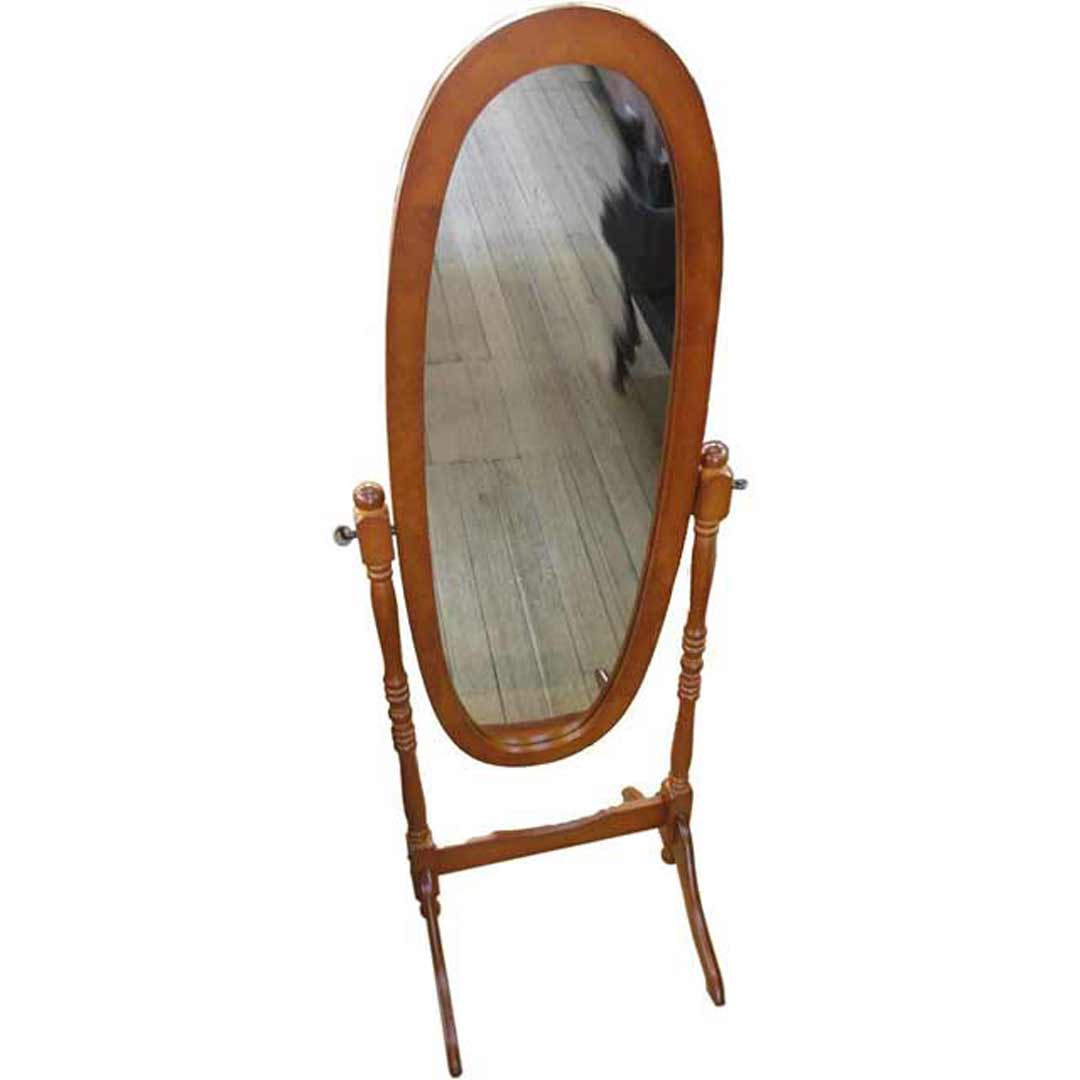 Cheval  Mirror Free Standing Dresser Antique Oak