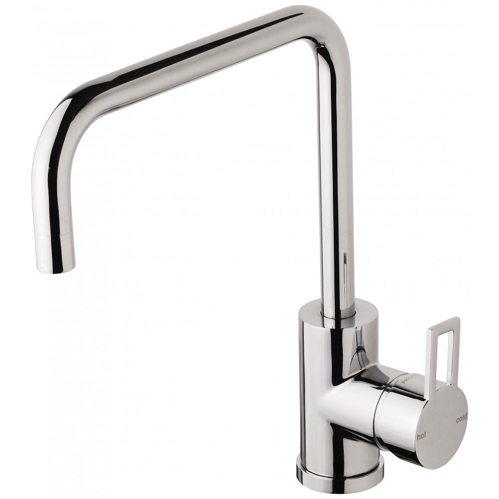 Phoenix Tapware Sink Mixer 220mm Squareline Kitchen Tap Chrome Lexi Q LQ731 CHR