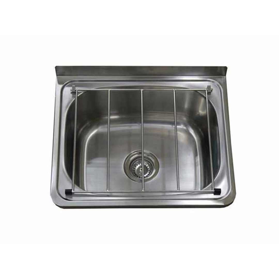 Cleaners Sink Stainless Steel Trough with Brackets Laundry Mop Tub 450mm x 555mm