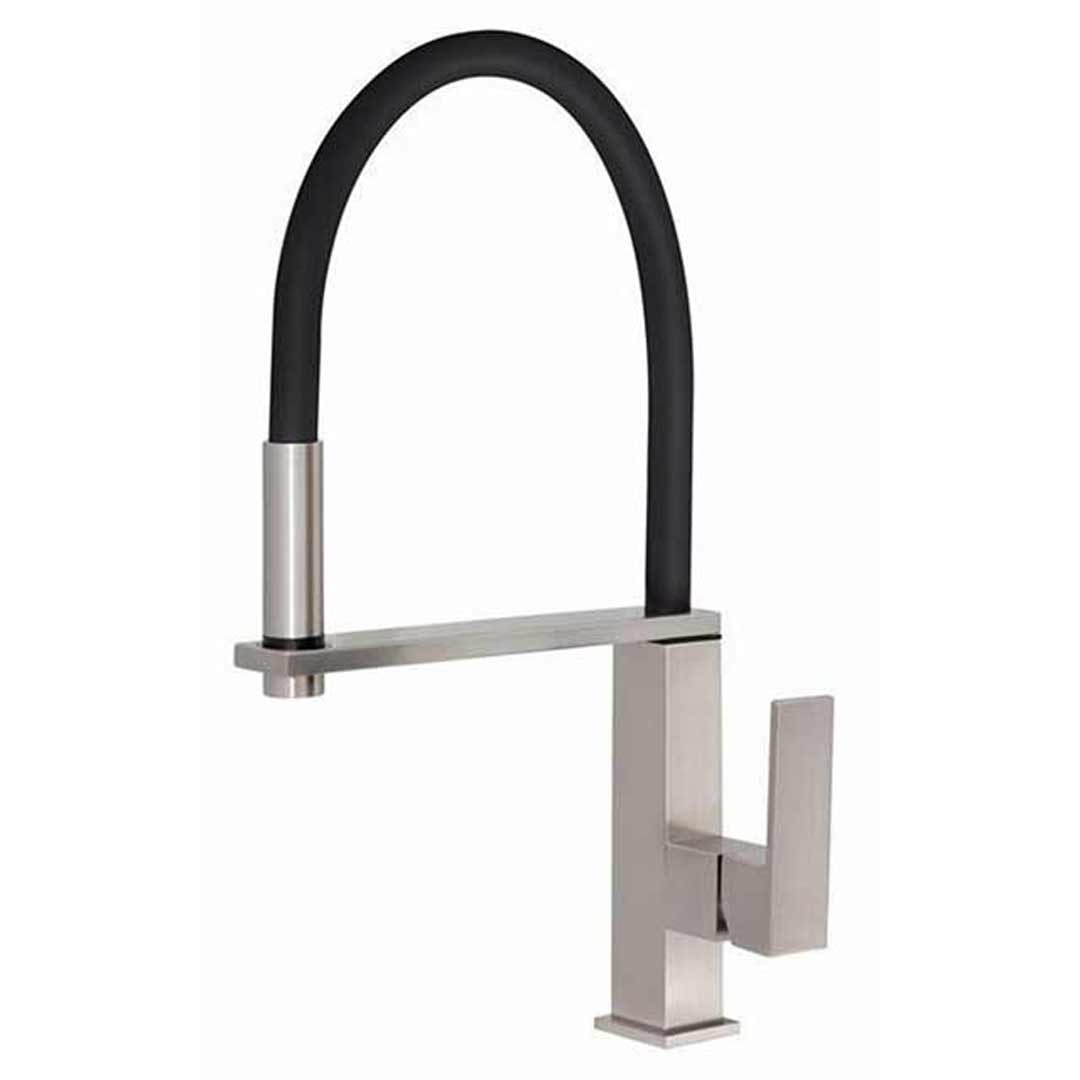 Phoenix Tapware Kitchen Sink Mixer Tap 360° Swivel Spout Brushed Nickel Vezz 10373100BN