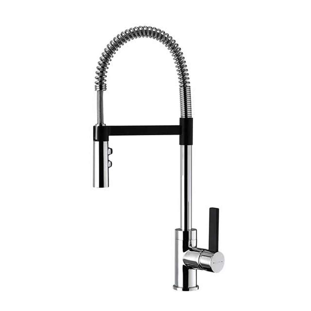 Methven Kitchen Sink Mixer Pull Down 360° swivel spout Black Accent Culinary Gaston 02-1055