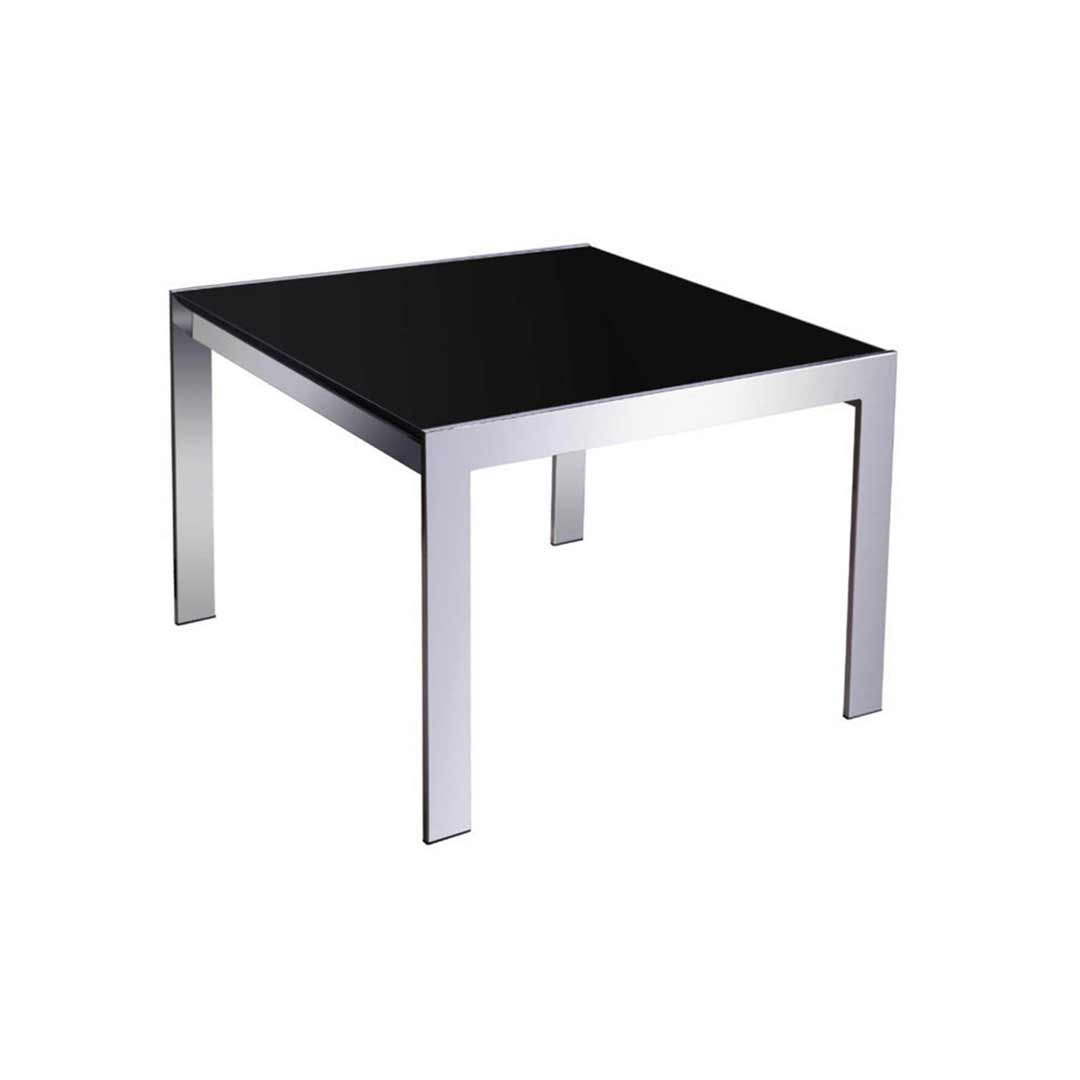 Rapidline Coffee Table Glass and Chrome 600mm x 600mm Square
