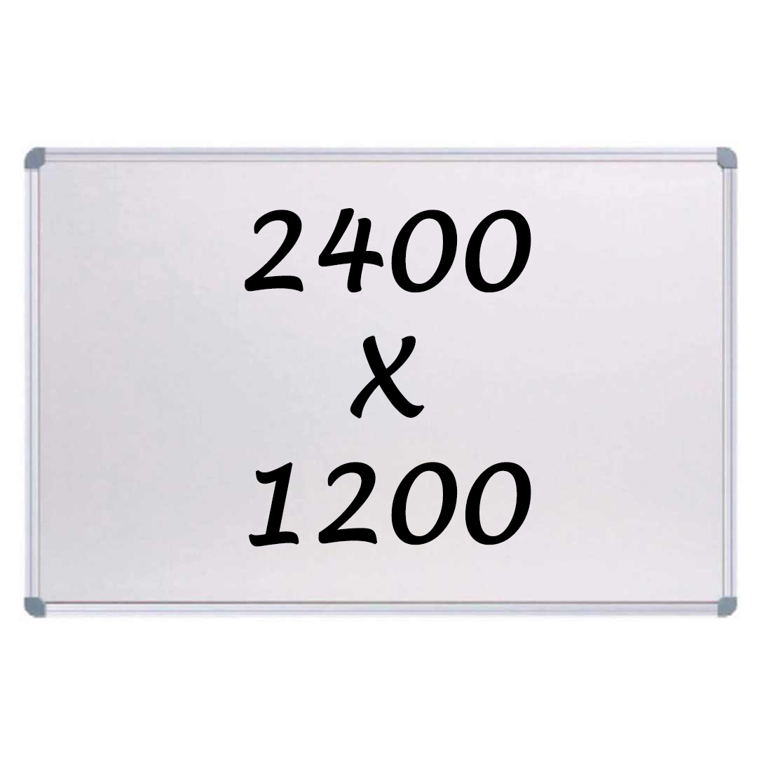 Whiteboards Direct Magnetic Whiteboard Writing Board Commercial 10y Warranty 2400mm x 1200mm