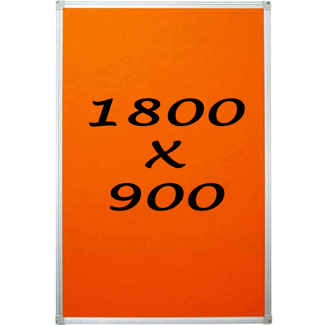 Whiteboards Direct Pin Board Felt Display Notice Pinboard 1800mm x 900mm Black
