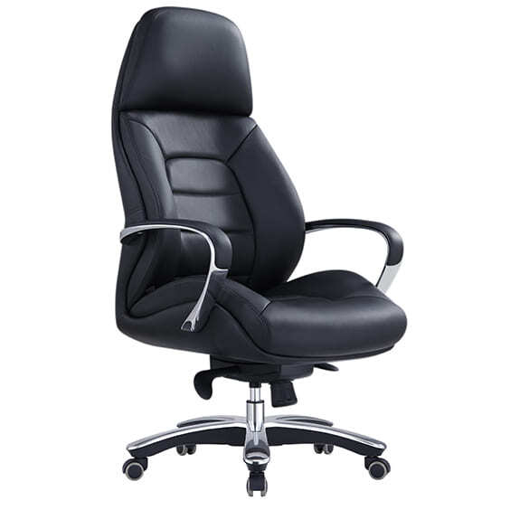 Style Ergonomics Leather Executive Seating High Back Adjustable Black MAGNUM-H
